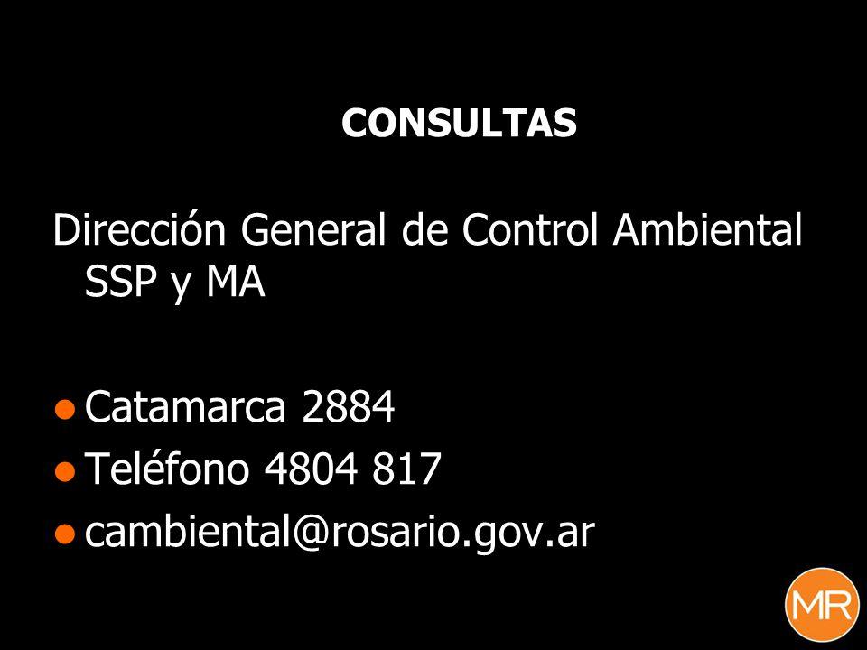Dirección General de Control Ambiental SSP y MA