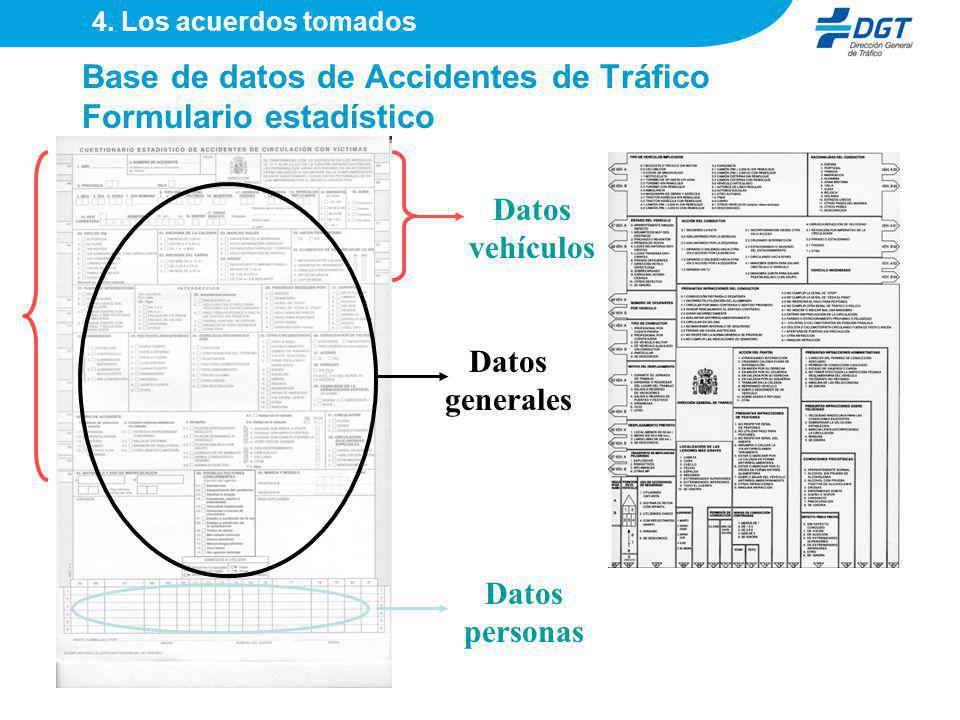 Base de datos de Accidentes de Tráfico Formulario estadístico