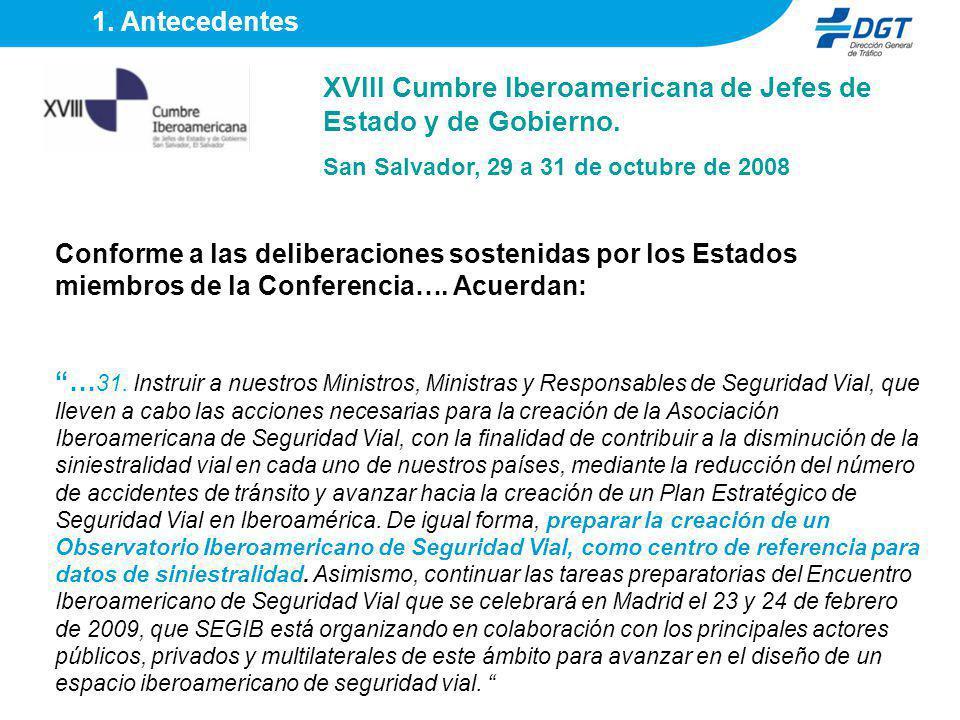 XVIII Cumbre Iberoamericana de Jefes de Estado y de Gobierno.