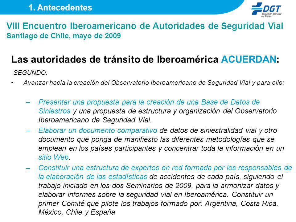 Las autoridades de tránsito de Iberoamérica ACUERDAN: