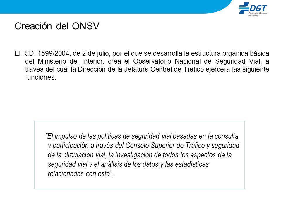 Creación del ONSV