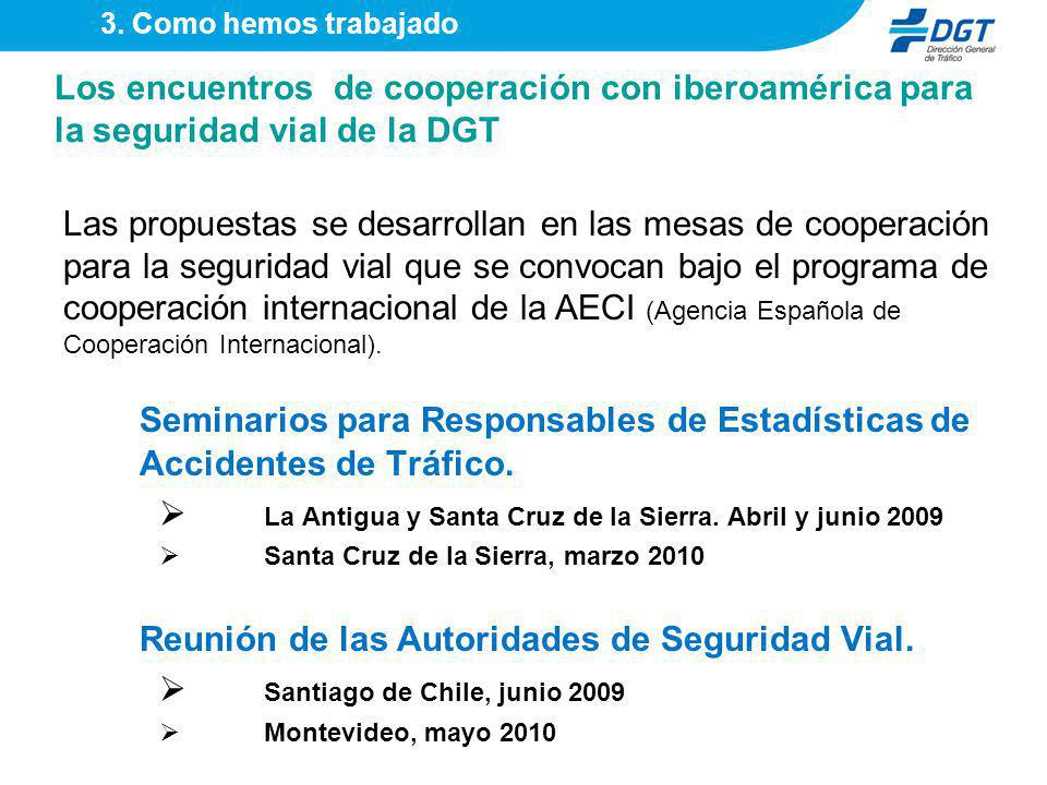 Seminarios para Responsables de Estadísticas de Accidentes de Tráfico.