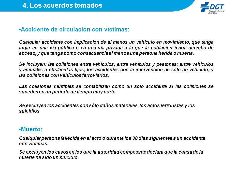 4. Los acuerdos tomados Accidente de circulación con víctimas: Muerto: