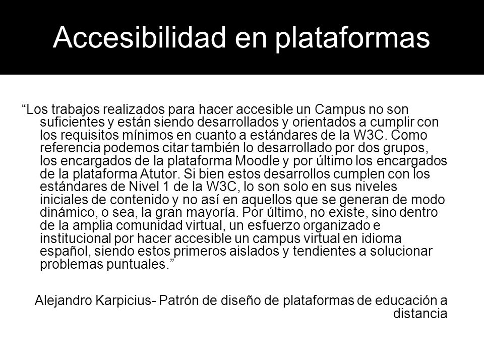 Accesibilidad en plataformas