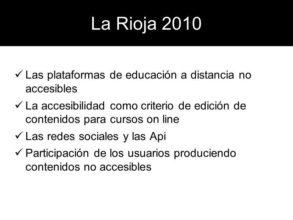 La Rioja 2010 Las redes sociales Api