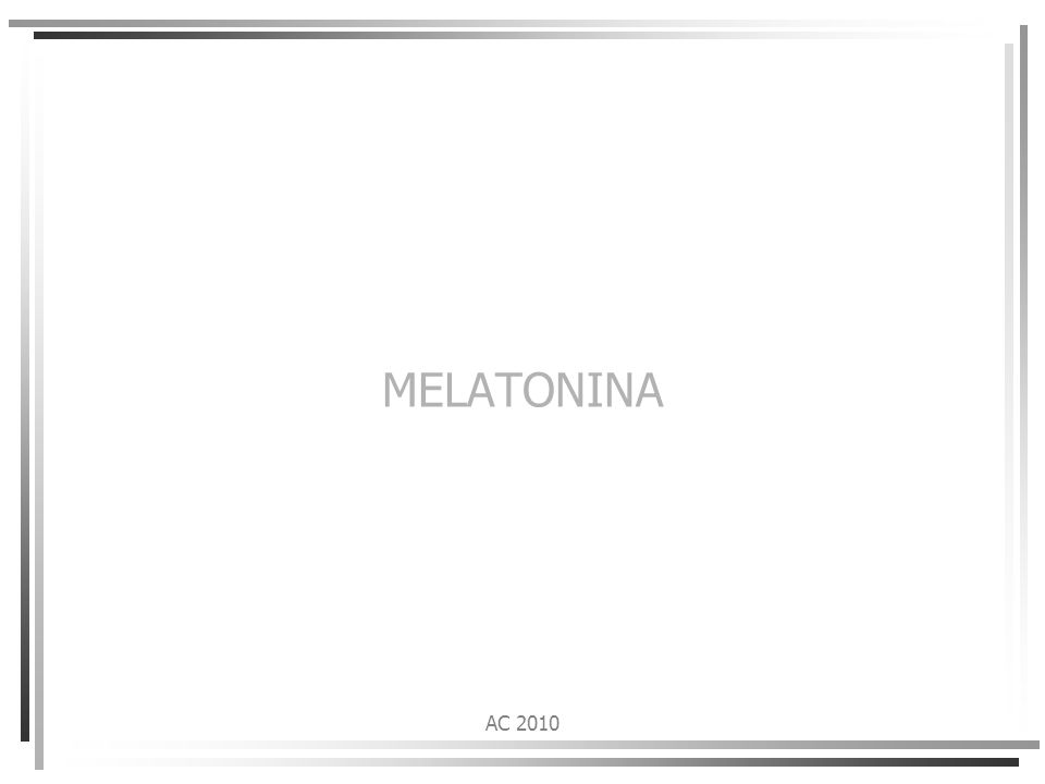 MELATONINA AC 2010