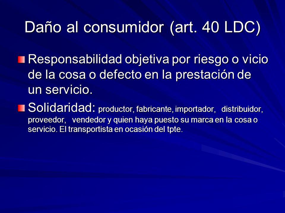 Daño al consumidor (art. 40 LDC)