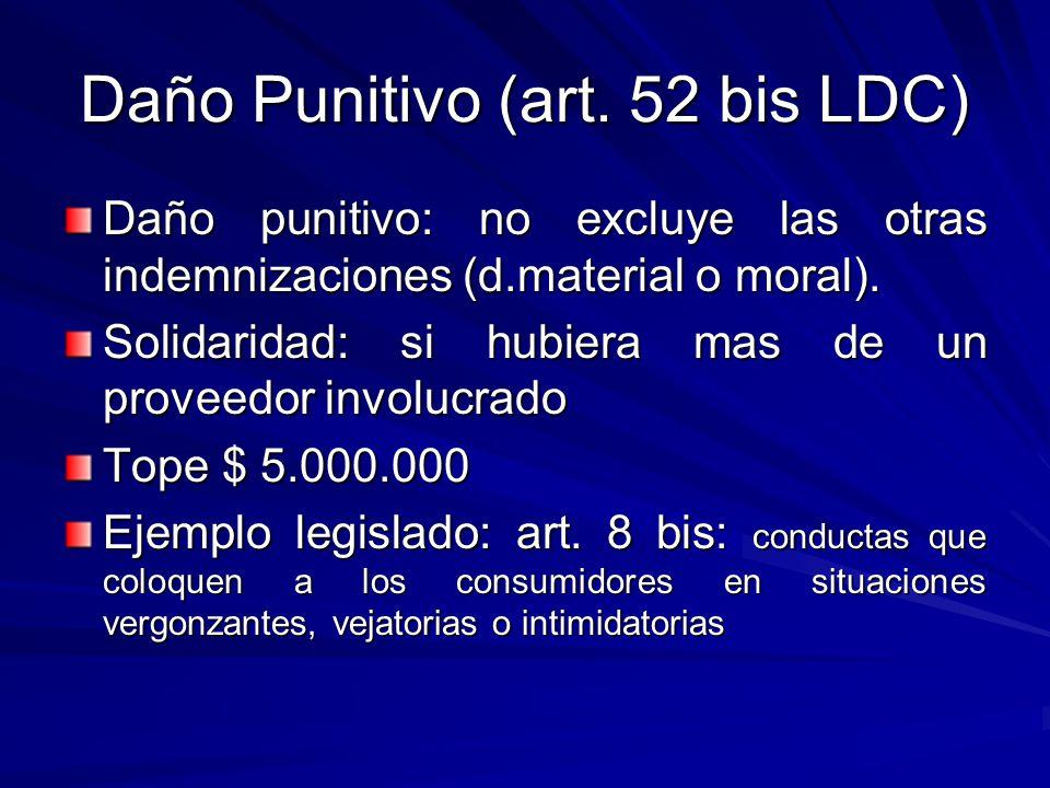 Daño Punitivo (art. 52 bis LDC)