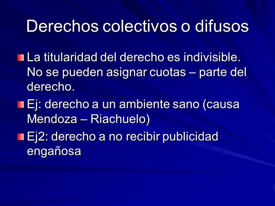 Derechos colectivos o difusos