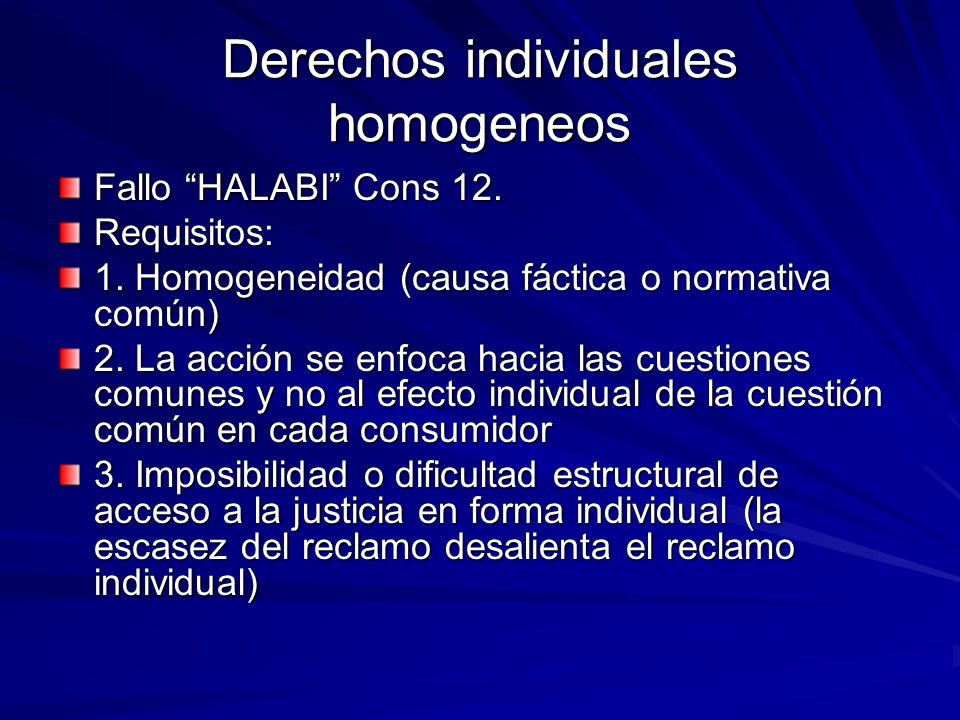 Derechos individuales homogeneos