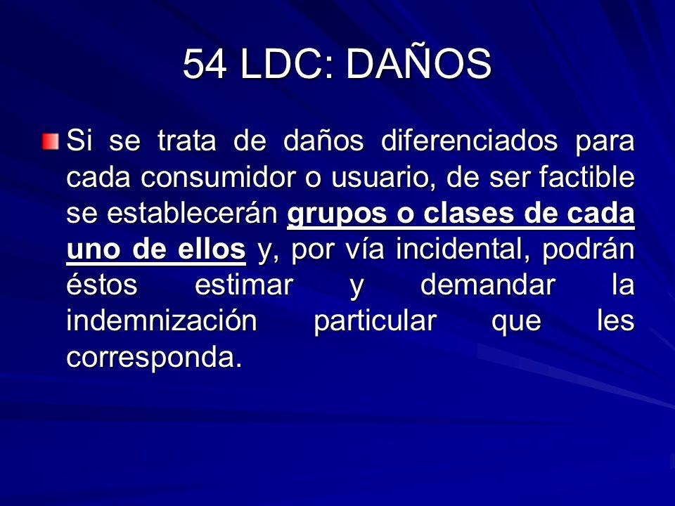 54 LDC: DAÑOS