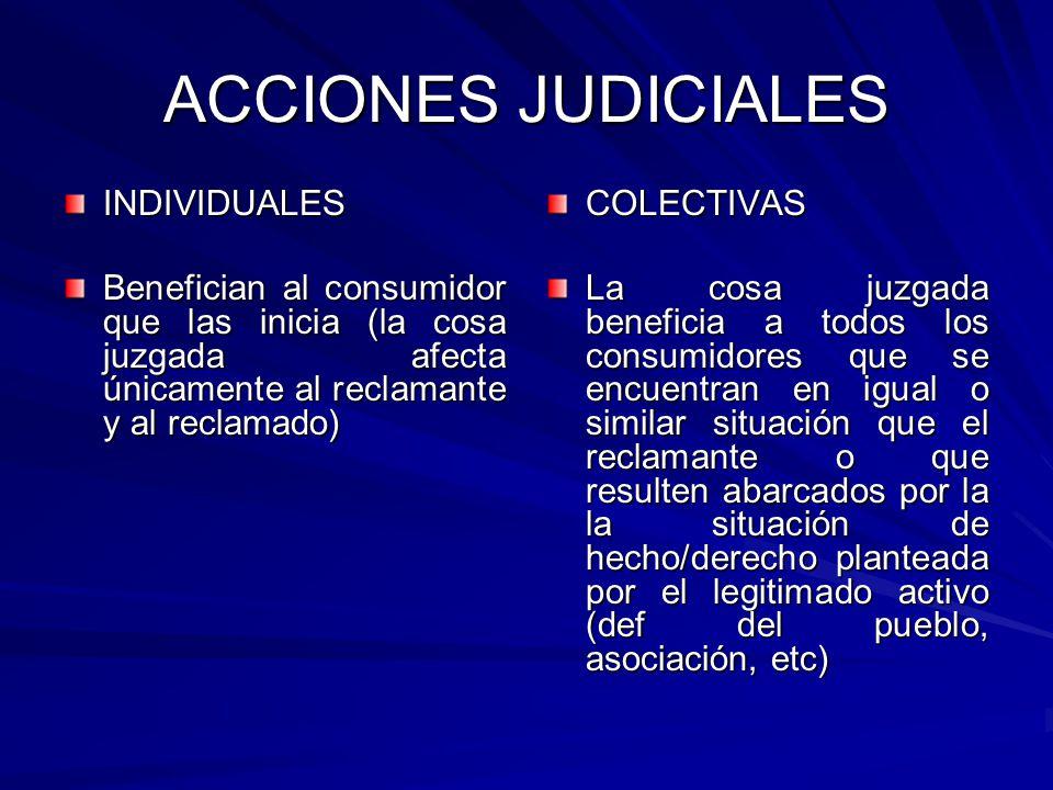 ACCIONES JUDICIALES INDIVIDUALES
