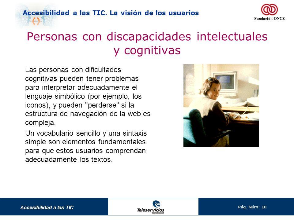 Personas con discapacidades intelectuales y cognitivas
