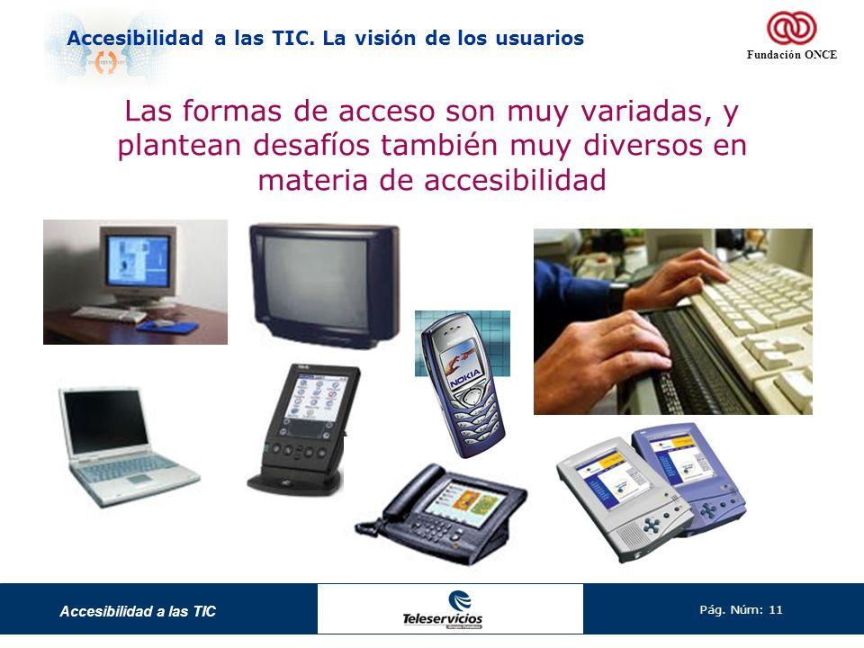 Las formas de acceso son muy variadas, y plantean desafíos también muy diversos en materia de accesibilidad