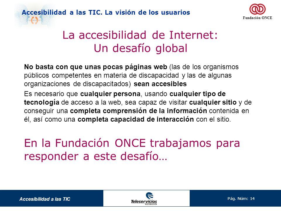 La accesibilidad de Internet: Un desafío global