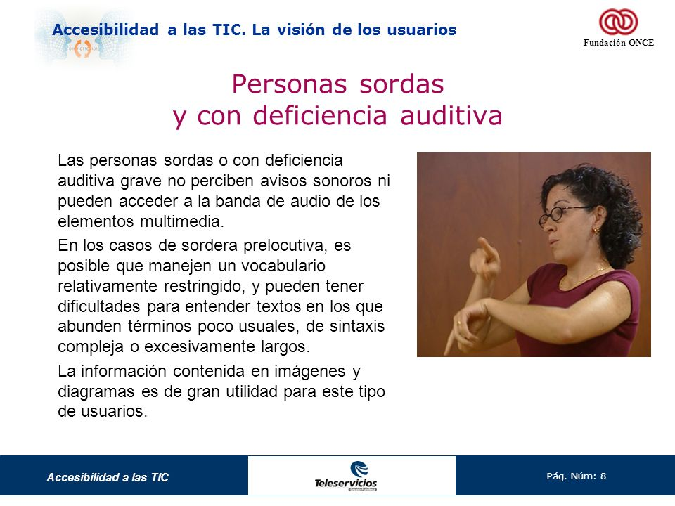 Personas sordas y con deficiencia auditiva