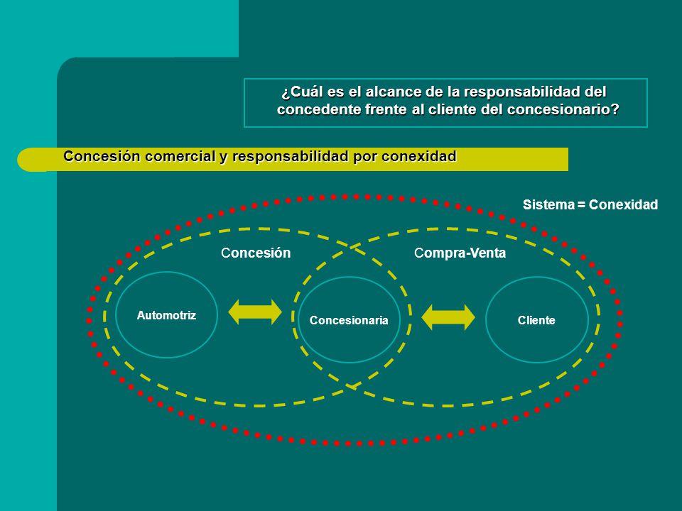 Concesión comercial y responsabilidad por conexidad