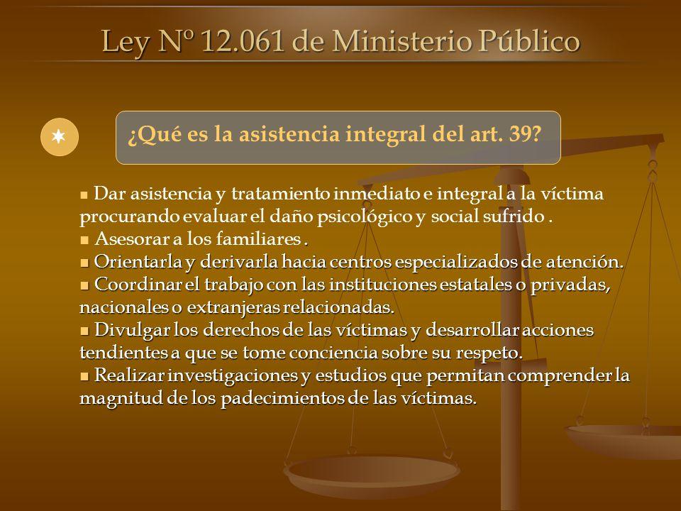 Ley Nº 12.061 de Ministerio Público