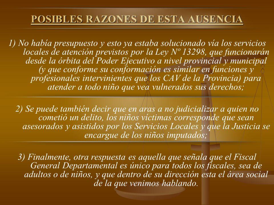 POSIBLES RAZONES DE ESTA AUSENCIA
