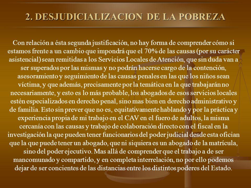 2. DESJUDICIALIZACION DE LA POBREZA