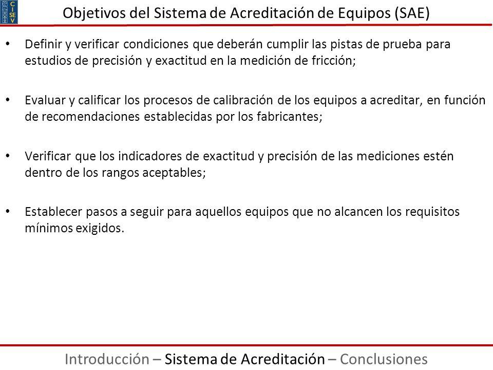 Objetivos del Sistema de Acreditación de Equipos (SAE)