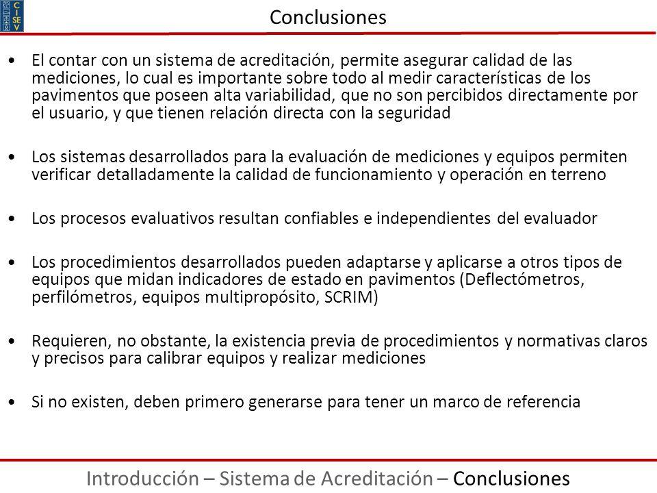 Introducción – Sistema de Acreditación – Conclusiones