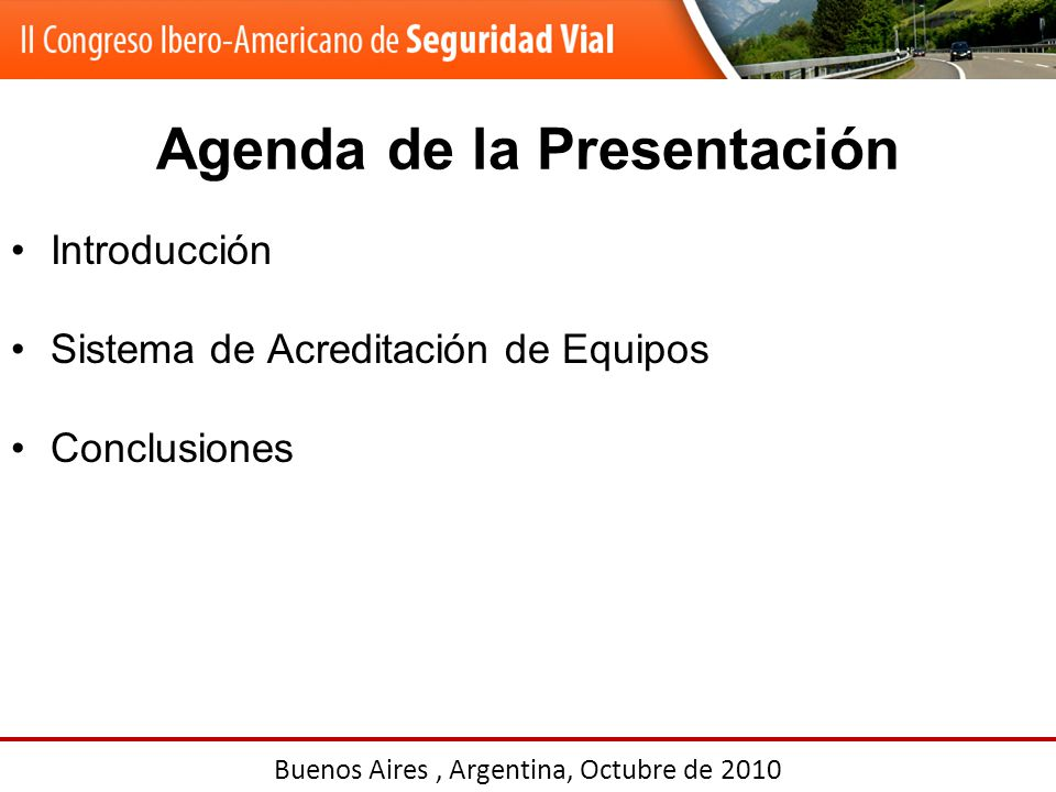 Agenda de la Presentación