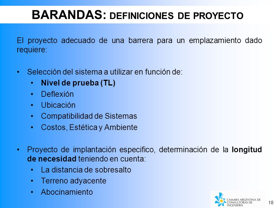 BARANDAS: DEFINICIONES DE PROYECTO