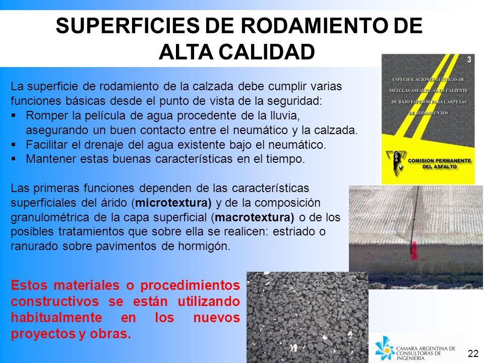 SUPERFICIES DE RODAMIENTO DE