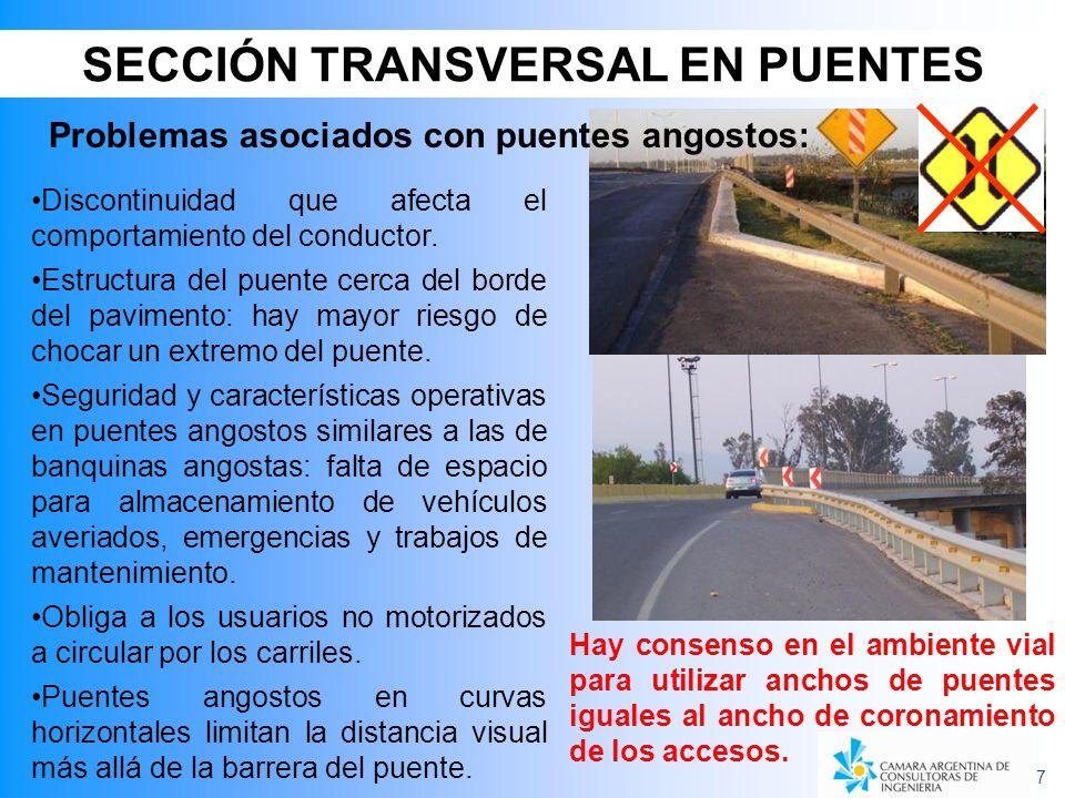 SECCIÓN TRANSVERSAL EN PUENTES