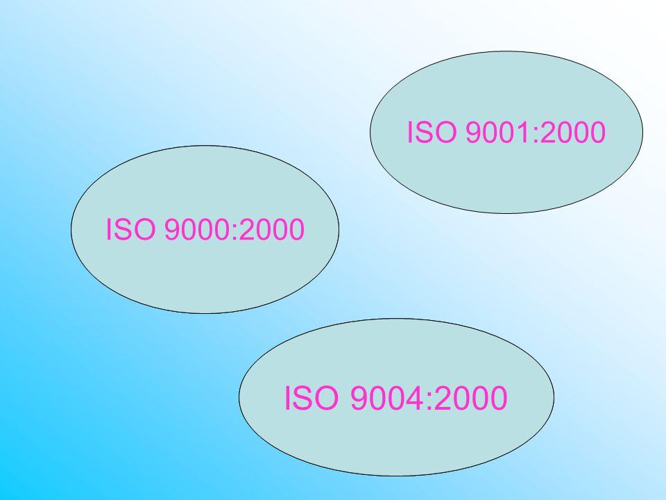 ISO 9001:2000 ISO 9000:2000 ISO 9004:2000