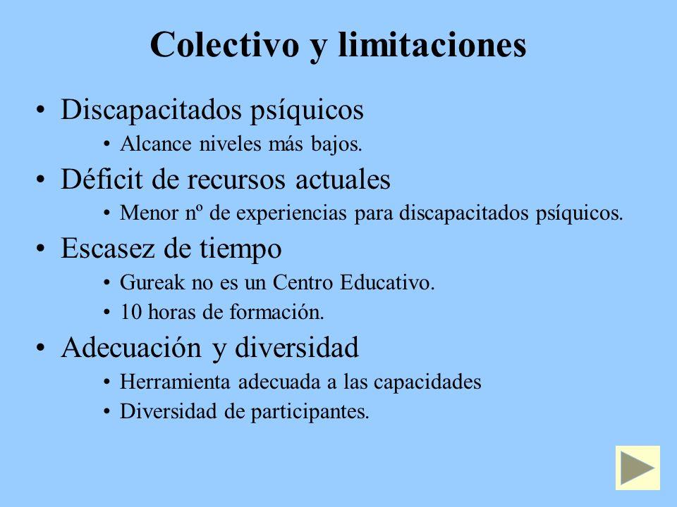 Colectivo y limitaciones
