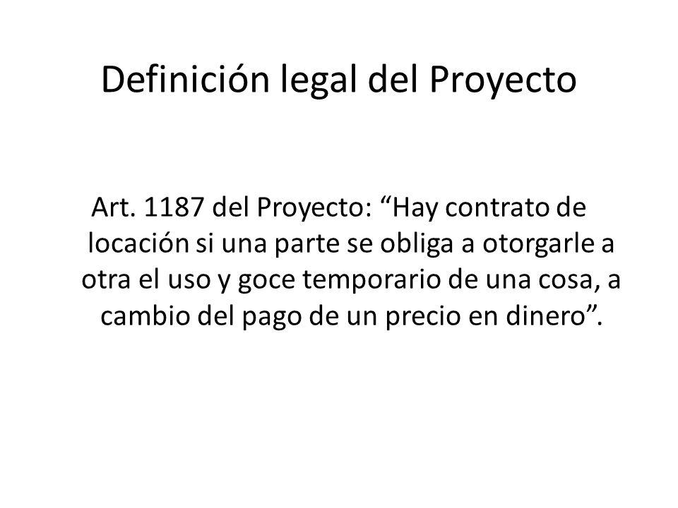 Definición legal del Proyecto