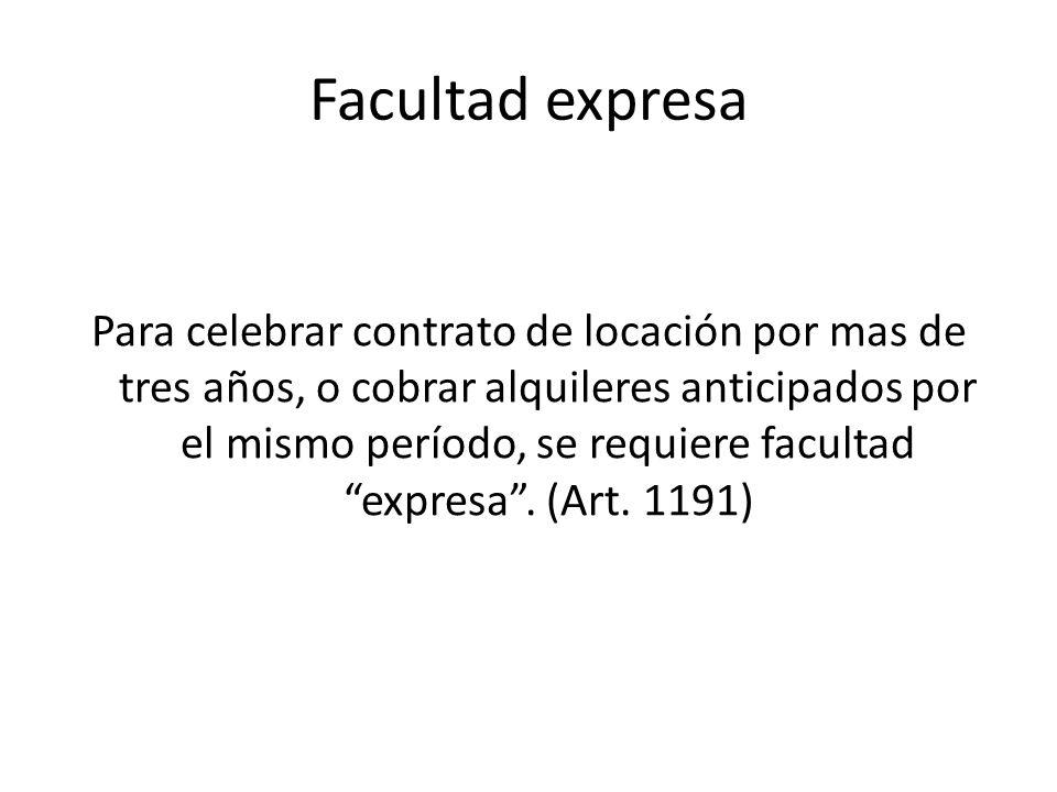 Facultad expresa