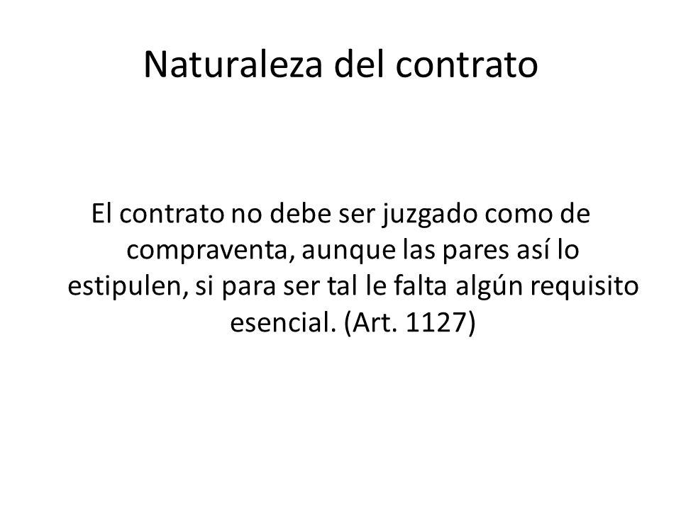 Naturaleza del contrato