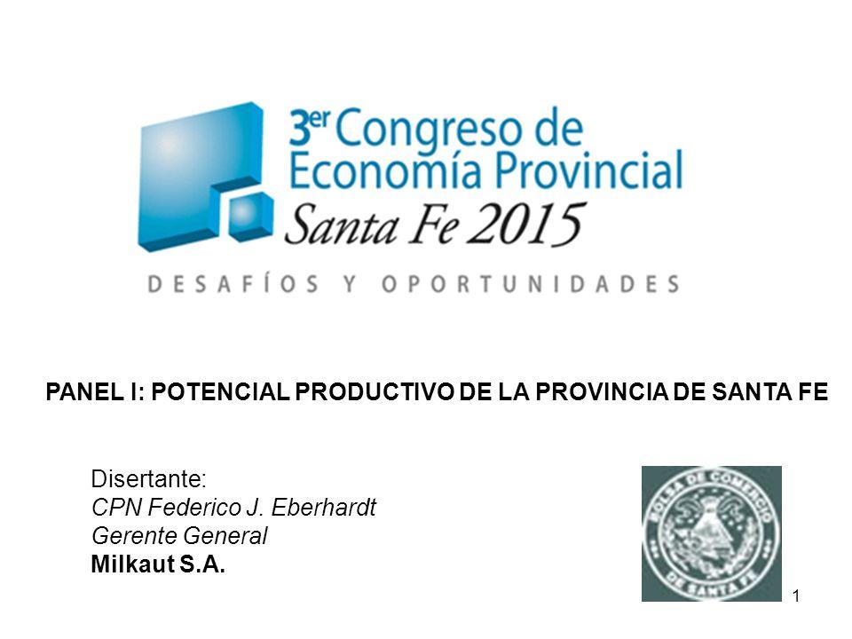 PANEL I: POTENCIAL PRODUCTIVO DE LA PROVINCIA DE SANTA FE