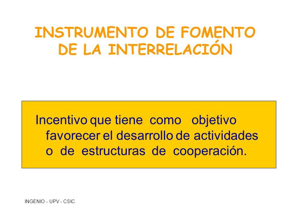 INSTRUMENTO DE FOMENTO DE LA INTERRELACIÓN