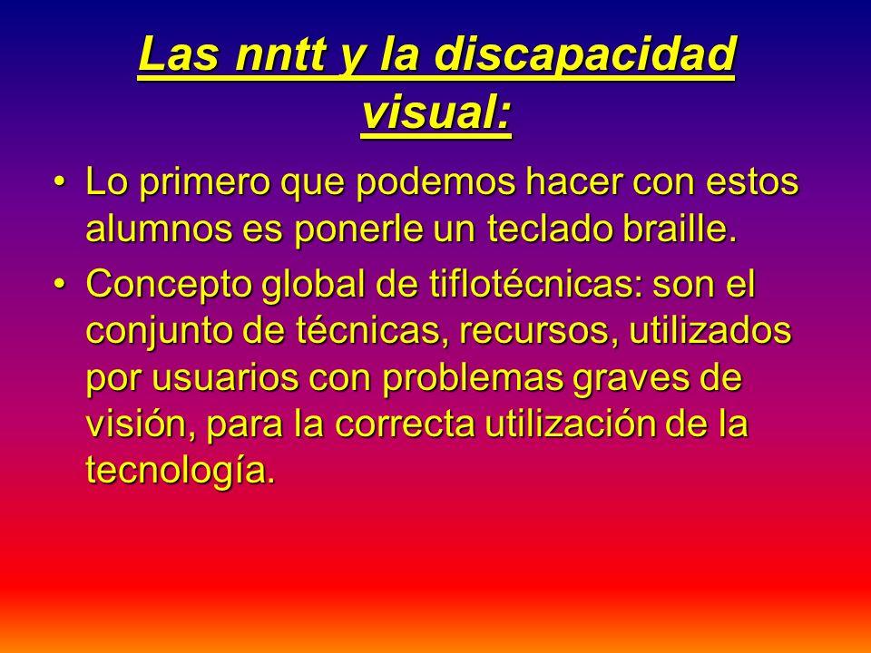 Las nntt y la discapacidad visual: