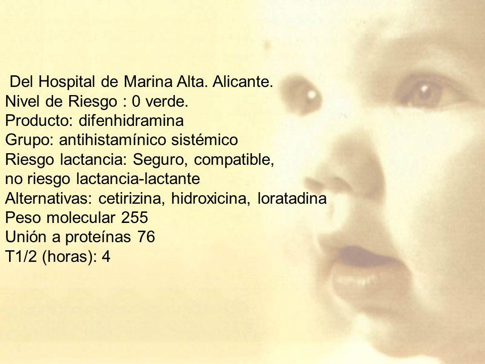 Del Hospital de Marina Alta. Alicante.