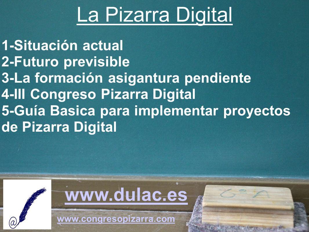 La Pizarra Digital www.dulac.es 1-Situación actual 2-Futuro previsible
