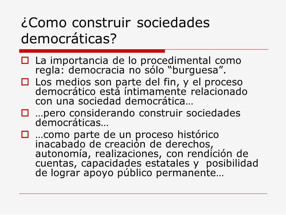 ¿Como construir sociedades democráticas