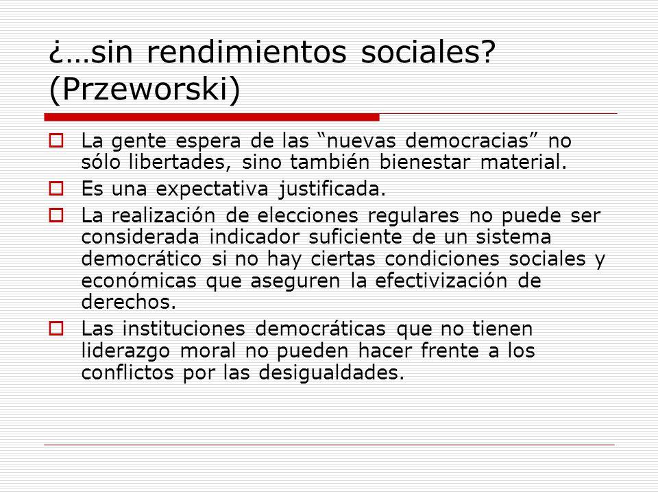 ¿…sin rendimientos sociales (Przeworski)