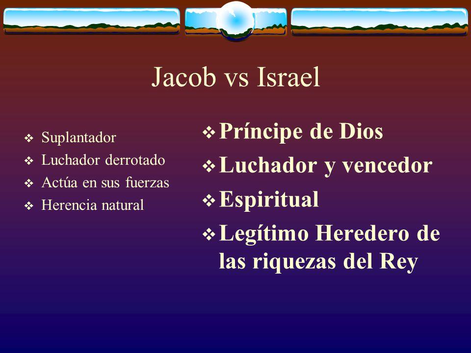 Jacob vs Israel Príncipe de Dios Luchador y vencedor Espiritual