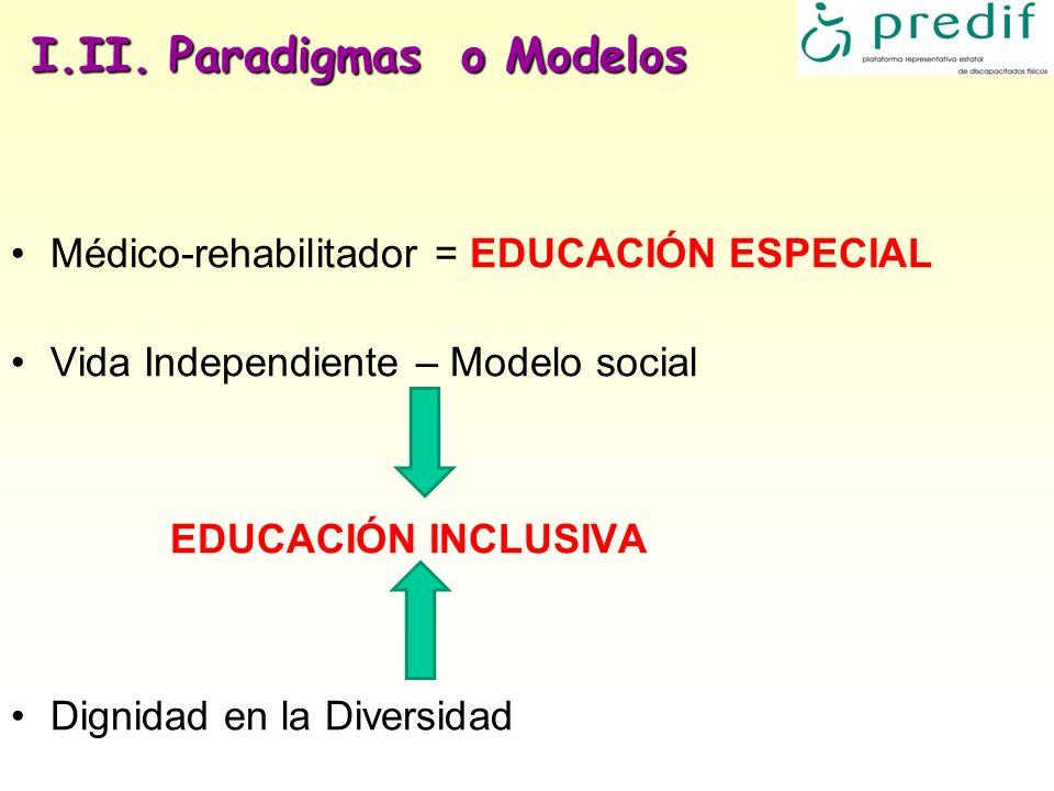 I.II. Paradigmas o Modelos