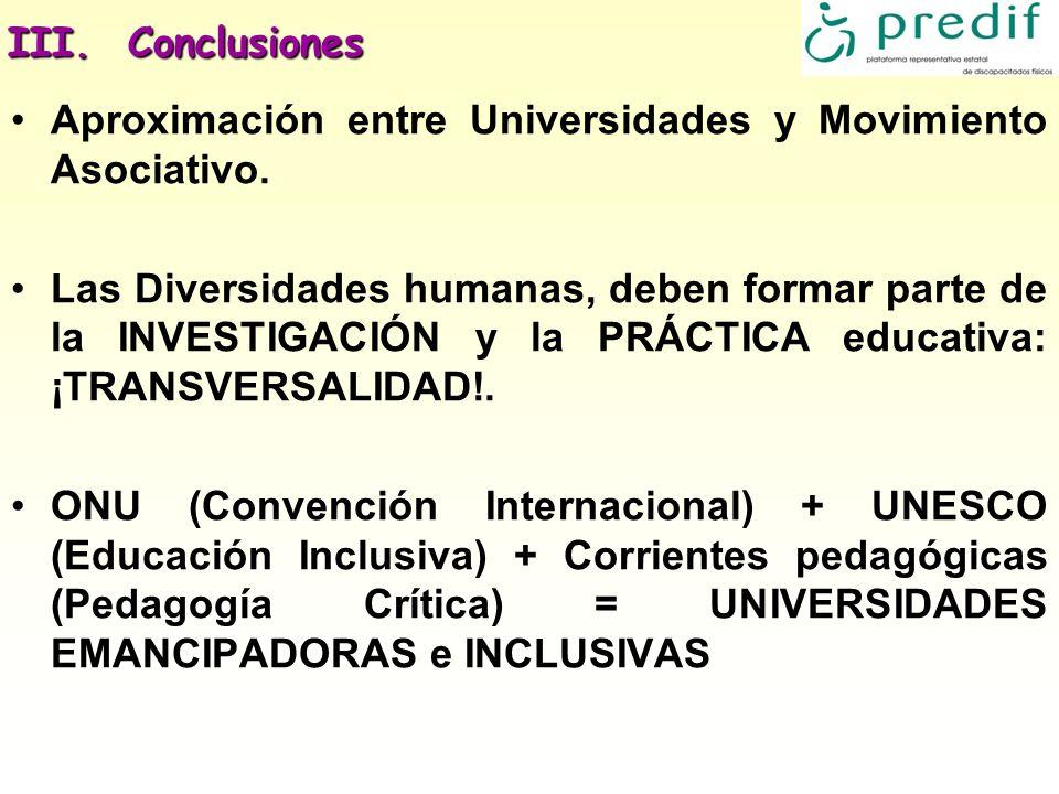 Aproximación entre Universidades y Movimiento Asociativo.