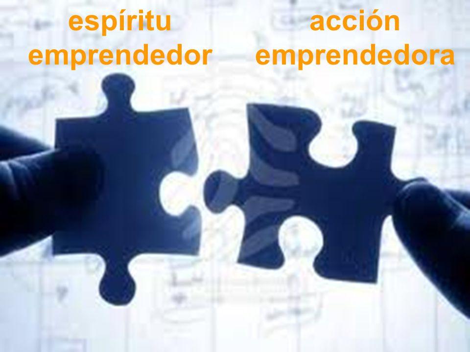 espíritu emprendedor acción emprendedora