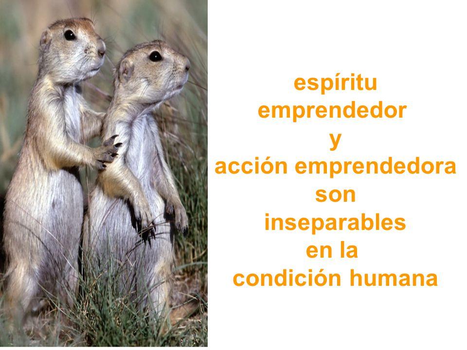 espíritu emprendedor y acción emprendedora son inseparables en la condición humana