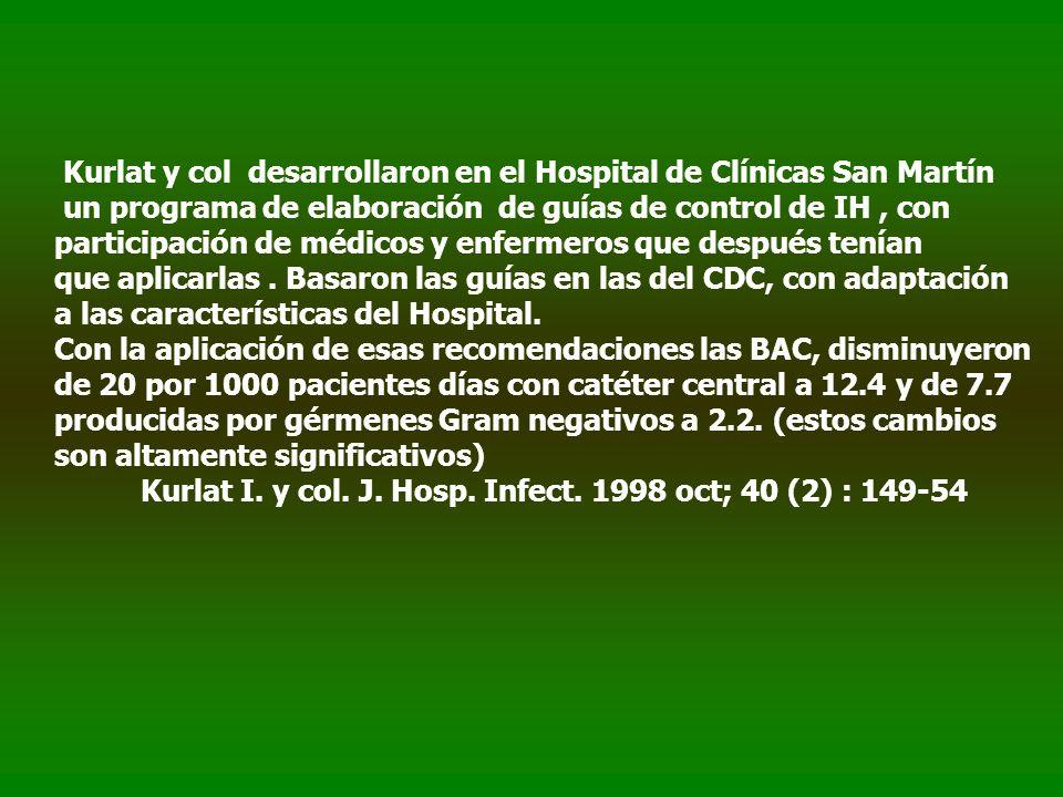 Kurlat y col desarrollaron en el Hospital de Clínicas San Martín