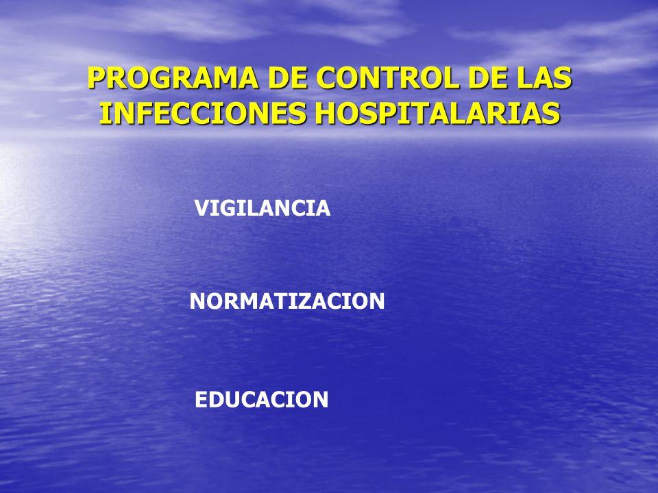 PROGRAMA DE CONTROL DE LAS INFECCIONES HOSPITALARIAS
