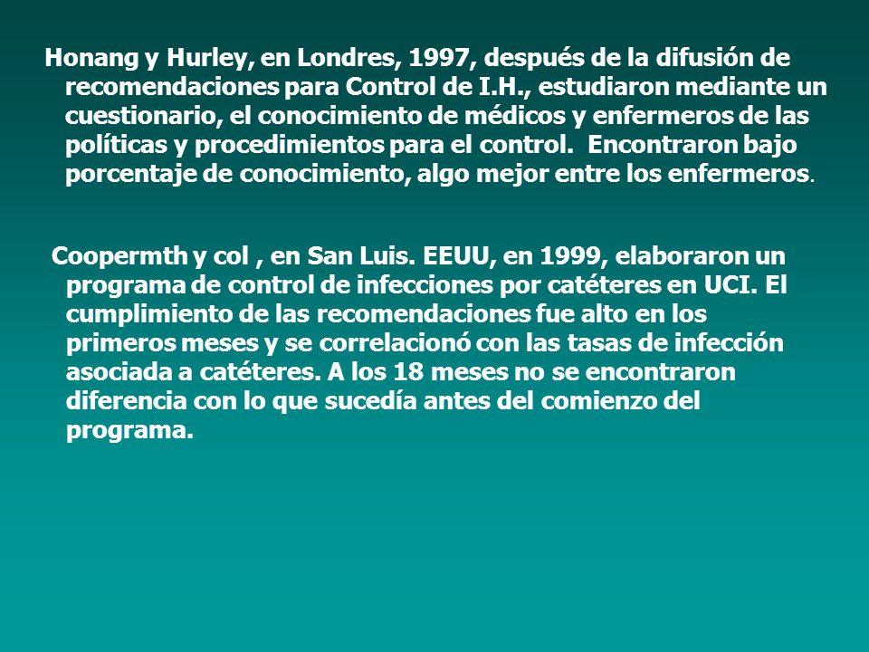 Honang y Hurley, en Londres, 1997, después de la difusión de